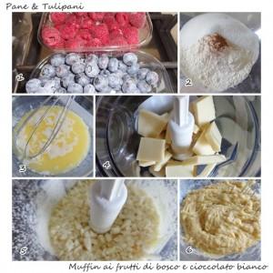 muffin ai frutti di bosco con cioccolato bianco.2