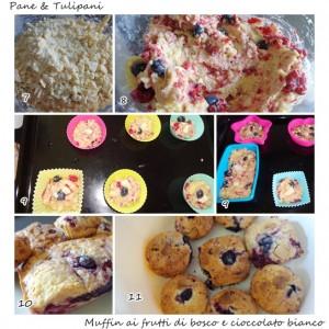muffin ai frutti di bosco con cioccolato bianco.3