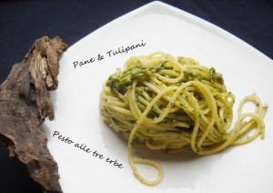 spaghetti con pesto alle tre erbe (2)