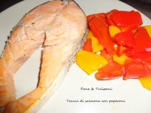 tranci di salmone con peperoni.1
