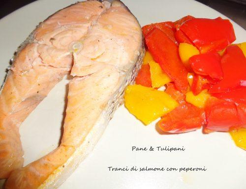 Tranci di salmone con peperoni