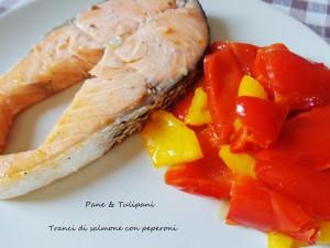 tranci di salmone con peperoni.2