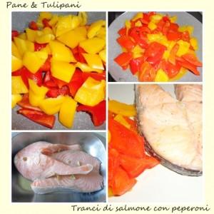 tranci di salmone con peperoni.3