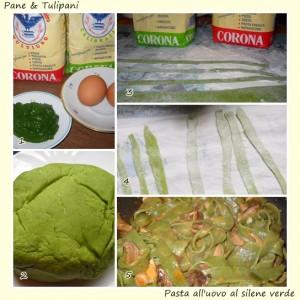 Pasta all'uovo al silene verde.2
