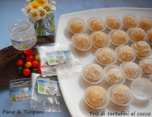 Tris di tartufini al cocco