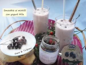Smoothie ai mirtilli con yogurt Mila