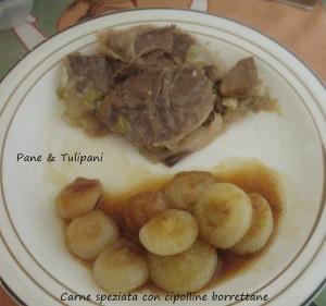 Carne speziata con cipolline borrettane.2