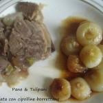 Carne speziata con cipolline borrettane