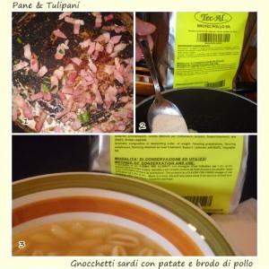 Gnocchetti sardi con patate in brodo si pollo.4