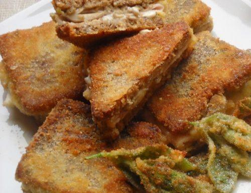 Mini sandwich saporiti di pane di segale