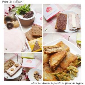 Mini sandwich saporiti di pane di segale.3
