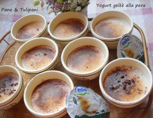 Yogurt gelee alla pera
