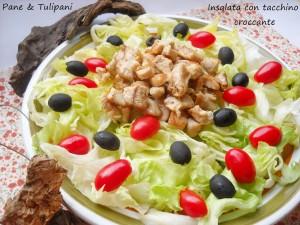 insalata con tacchino croccante