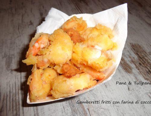 Gamberetti fritti con farina di cocco