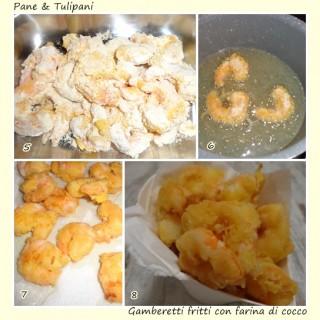 Gamberetti fritti con farina di cocco.3