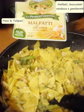 Malfatti, broccoletti, verdesca e gamberetti.2