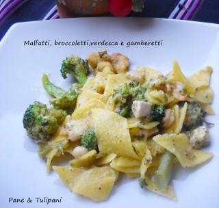 Malfatti, broccoletti, verdesca e gamberetti.3