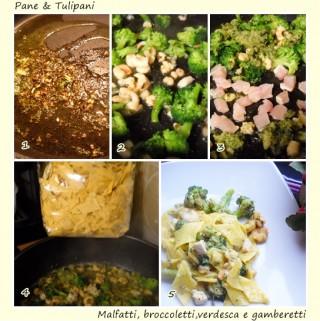 Malfatti, broccoletti, verdesca e gamberetti.4