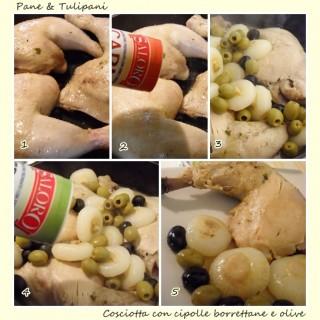 Cosciotta con cipolle borrettane e olive.4
