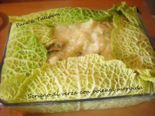 Scrigno di verza con polenta morbida.2