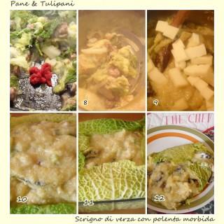 Scrigno di verza con polenta morbida.4