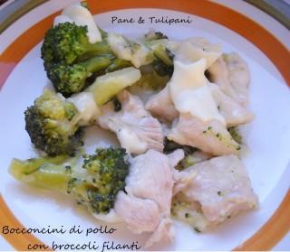 Bocconcini di pollo con broccoli filanti.8