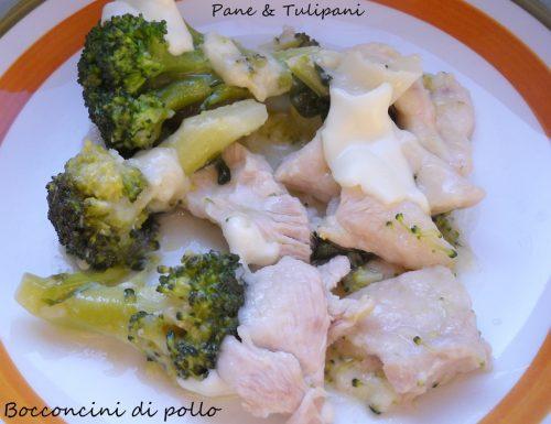 Bocconcini di pollo ai broccoli filanti