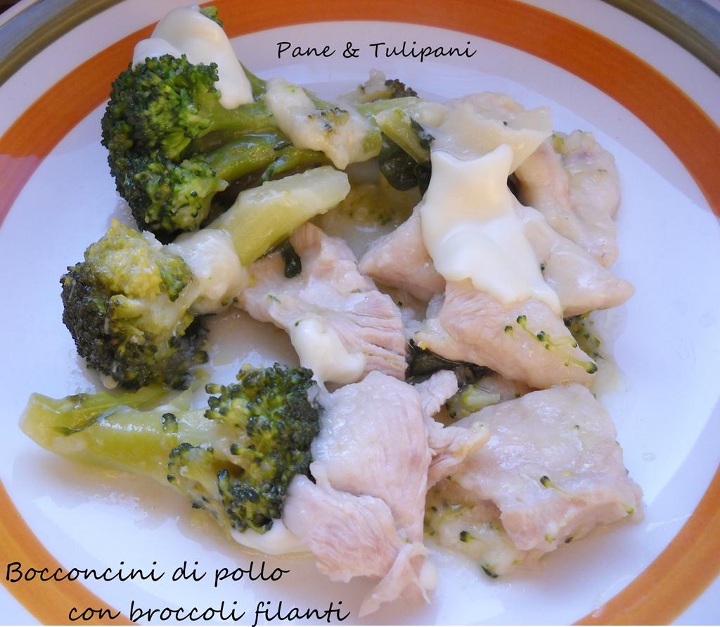 bocconcini di pollo con broccoli filanti