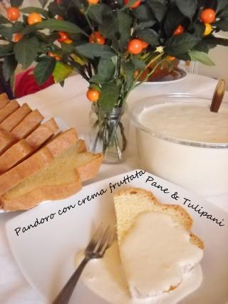 Pandoro con crema fruttata.3