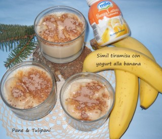 Simil tiramisù con yogurt alla banana.1