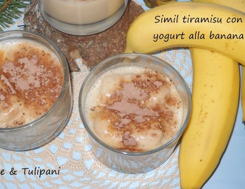 Simil tiramisù con yogurt alla banana