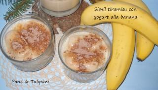 Simil tiramisù con yogurt alla banana