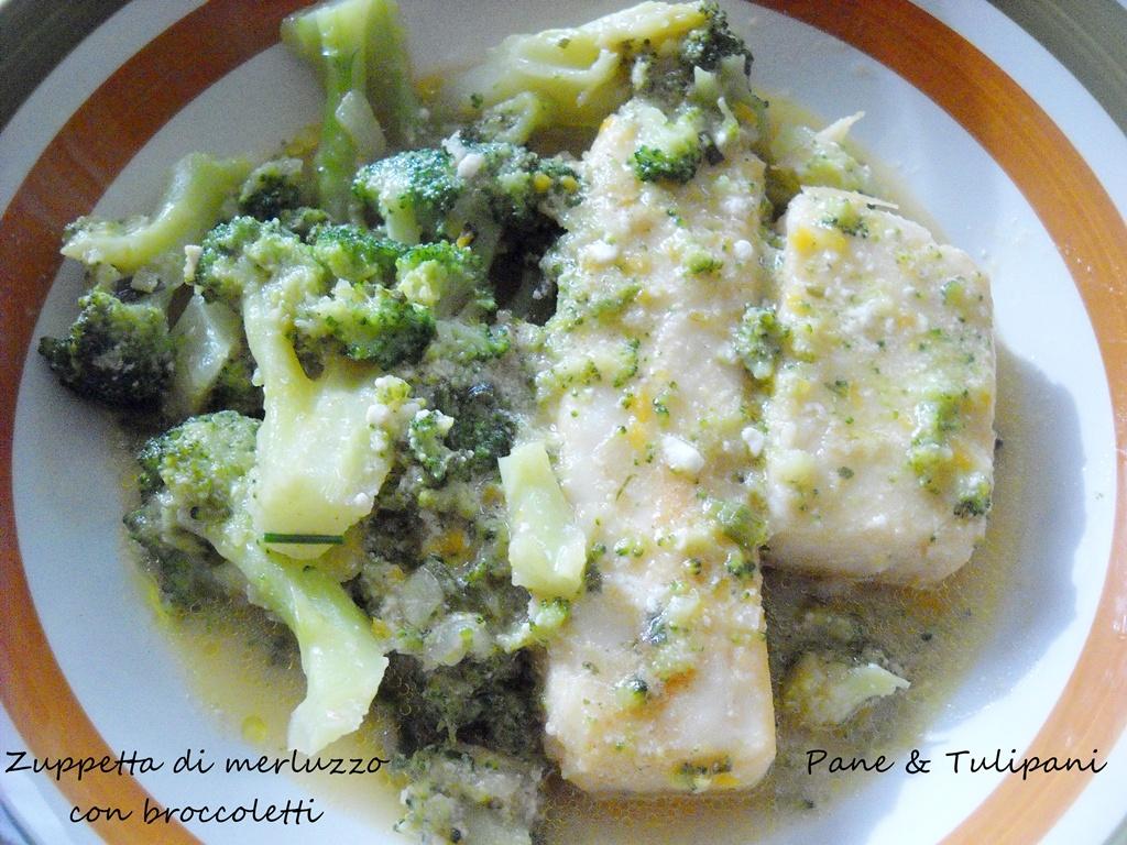 zuppetta di merluzzo con broccoletti