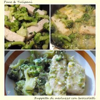 Zuppetta di merluzzo con broccoletti.4