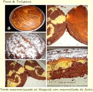 torta marmorizzata al Nesquik.3
