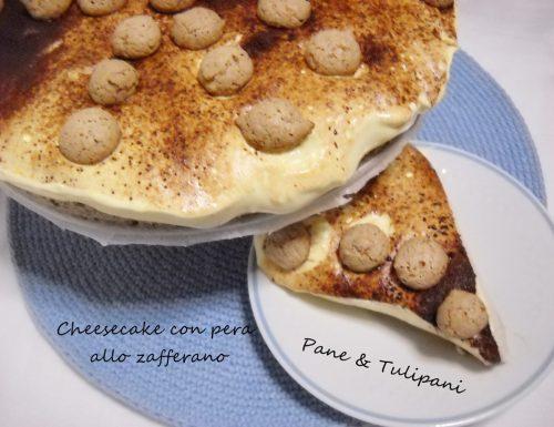 Cheesecake con pera allo zafferano