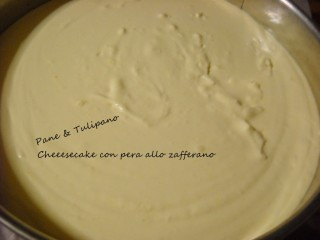Cheesecake con pera allo zafferano.4