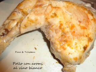 Pollo con aromi al vino bianco