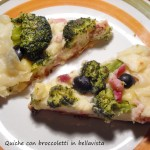 Quiche con broccoletti in bellavista