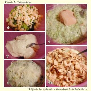 Teglia di ziti con salmone e broccoletti.5