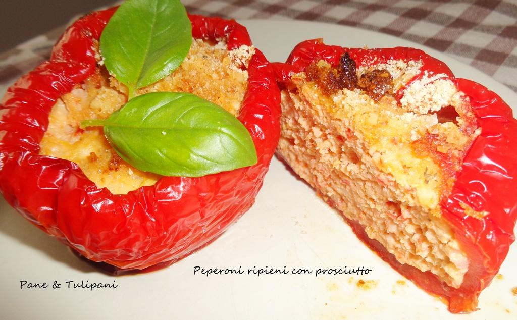 peperoni ripieni con prosciutto