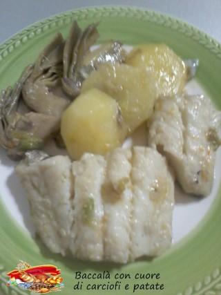 Baccalà con cuore di carciofi e patate.2