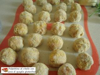 Polpettine di vitello con uova di quaglia gluten free.5