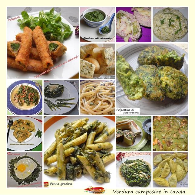 verdura campestre in tavola