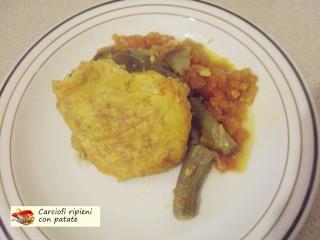 Carciofi ripieni con patate.9