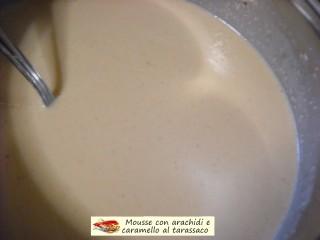 Mousse con arachidi e caramello al tarassaco.10