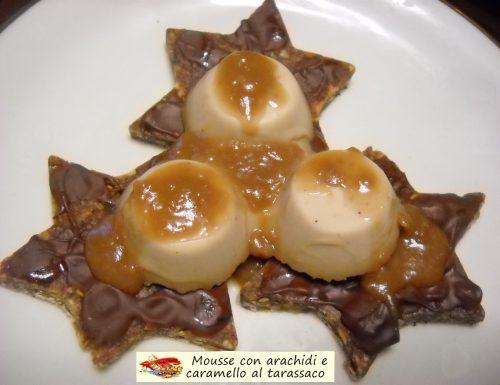 Mousse con arachidi e caramello al tarassaco