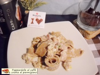 Pappardelle al caffè e crema al parmigiano.2