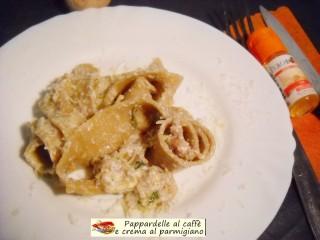 Pappardelle al caffè e crema al parmigiano.3
