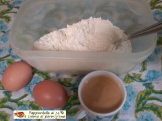 Pappardelle al caffè e crema al parmigiano.4